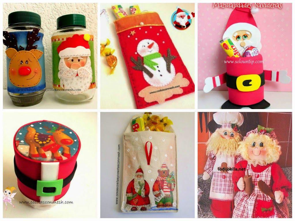 C mo hacer dulceros de madera navide os c mo hacer - Regalos navidenos hechos a mano ...