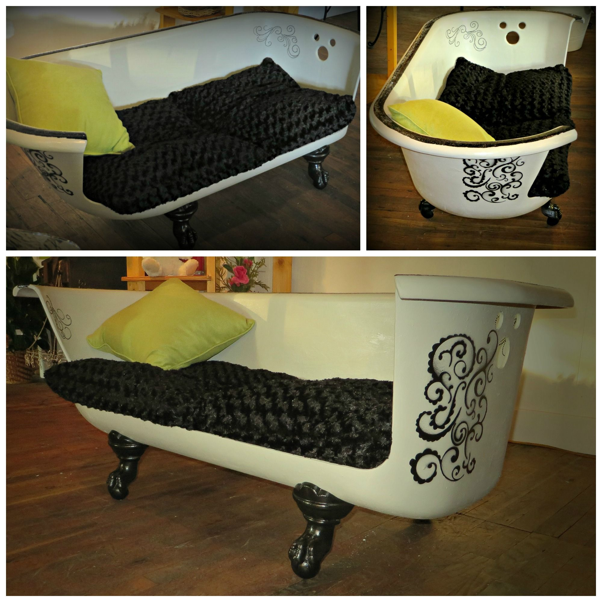 Claw-foot Tub Made Into A Couch. Www.petalsofwytheville
