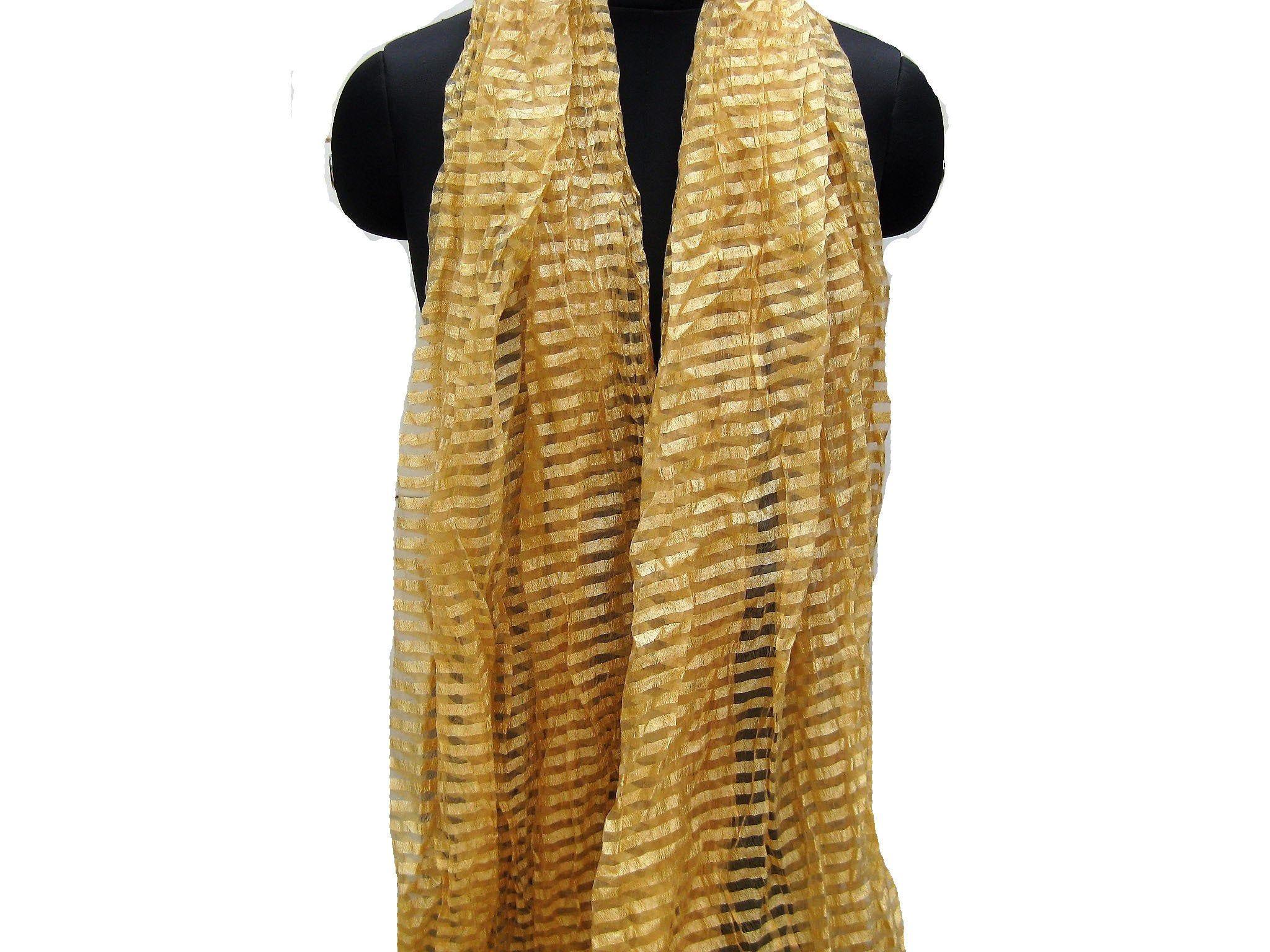 Beige scarftassel scarf long scarf striped scarf