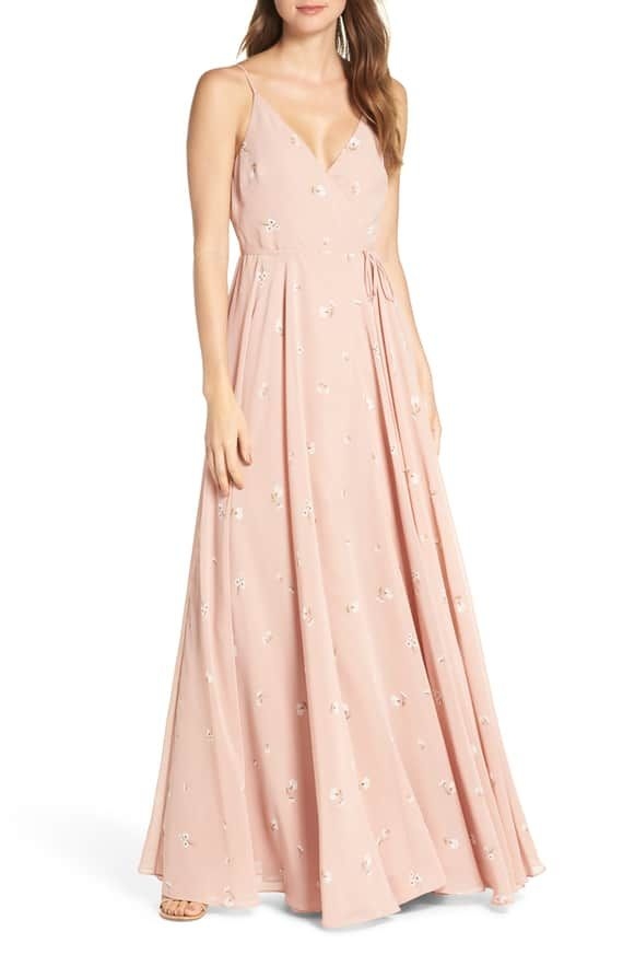 d78d584ddde Jenny Yoo James Sleeveless Wrap Chiffon Evening Dress