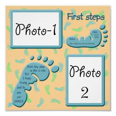 First steps - Baby Boy Poster