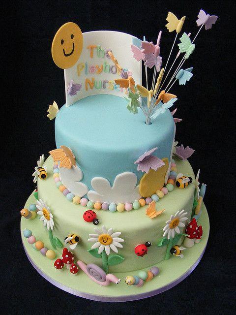 Vintage by Leslea Matsis Cake | Playhouse Nursery Cake