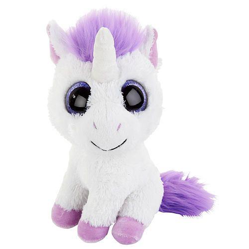 Toys R Us 8 Inch Sparkle Wide Eyed Plush White Unicorn Toys R Us