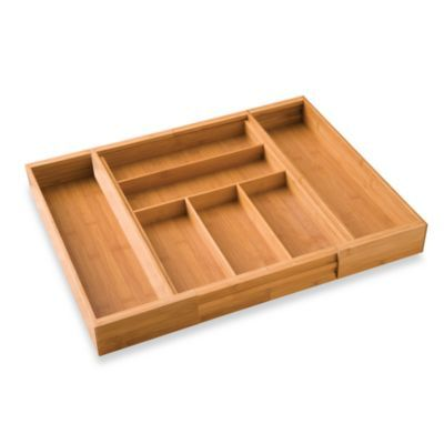 Made Of 100 Bamboo Stock This Expandable Cutlery Tray Optimizes