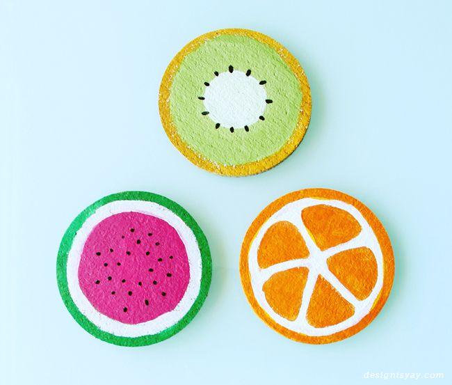 DIY Fruit Coasters | DESIGN IS YAY! | DIY Crafts + Tutorials ...