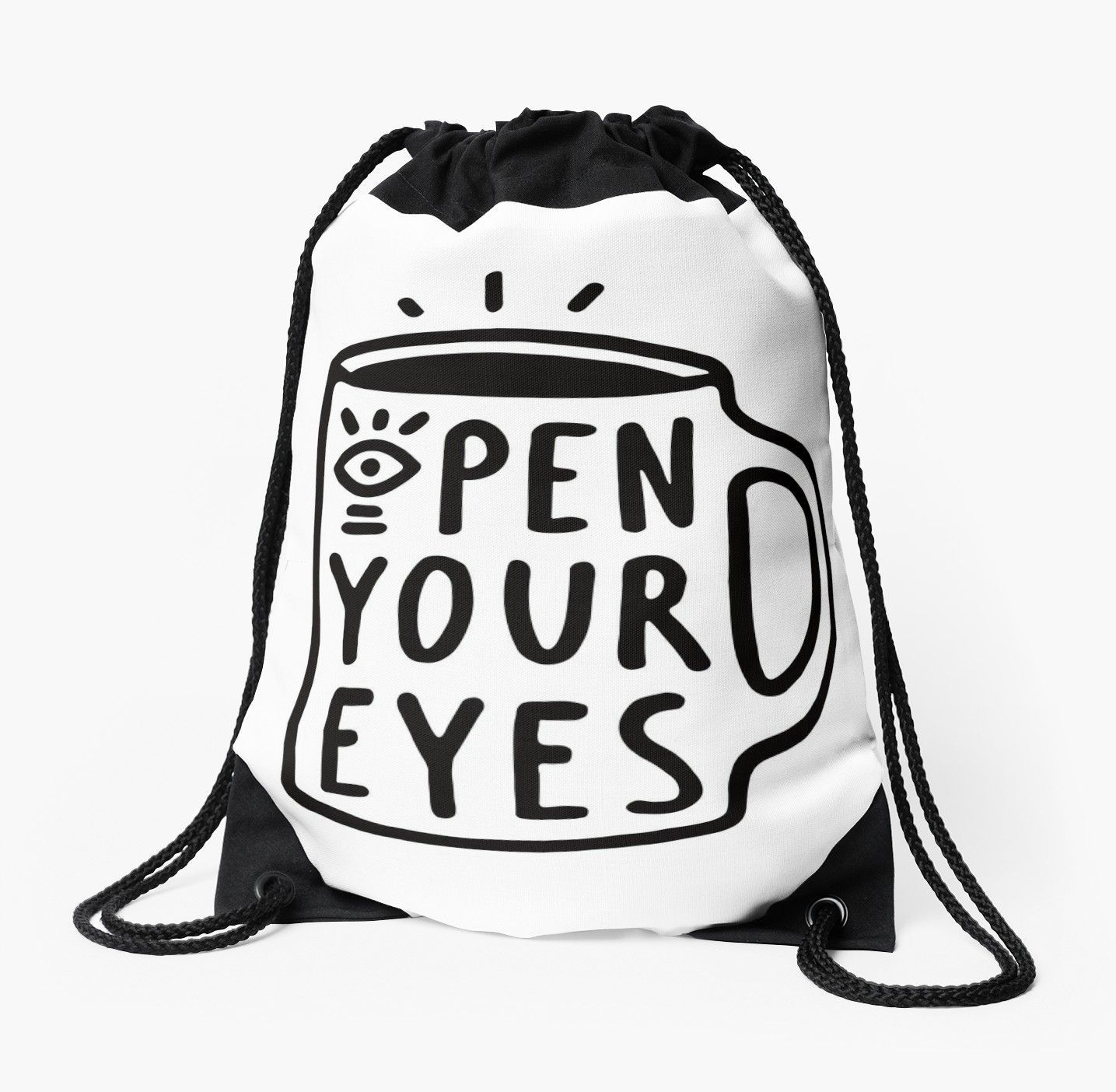 Open Your Eyes Drawstring Bag Carry It With You Bags