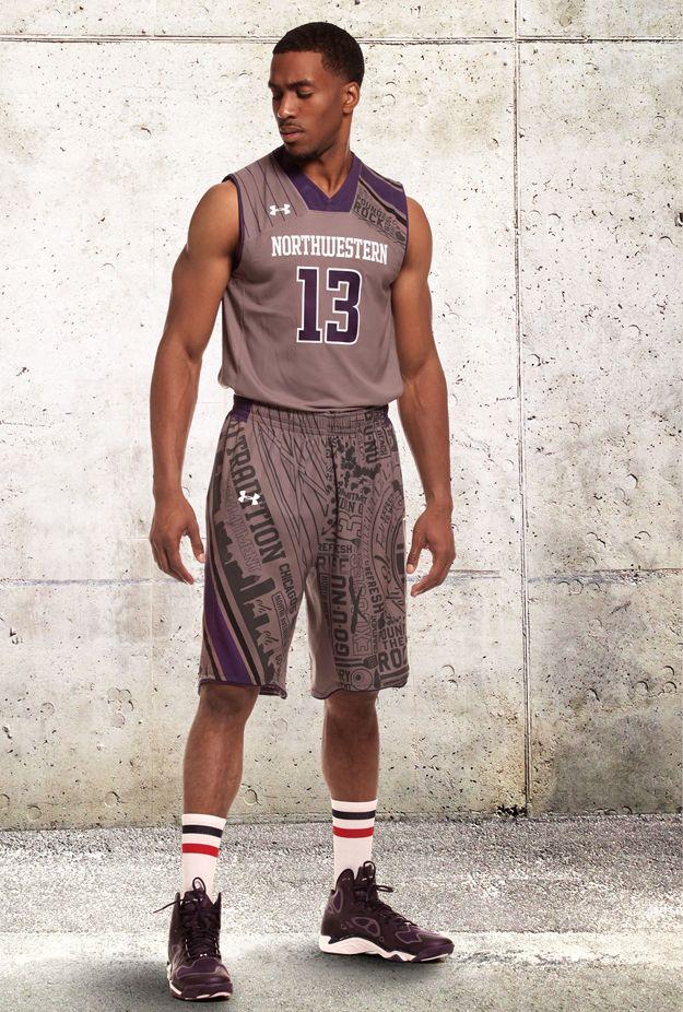c4ed50429 Northwestern University Basketball Uniform 2014 by Under Armour ...