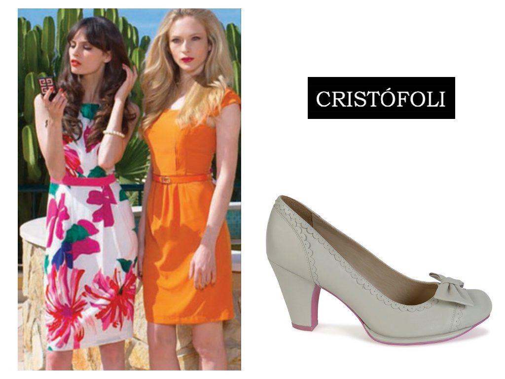 #Feverlondon summer dresses + white Emily pupms from #cristofolispring2015. #Cristofoli #shoes.