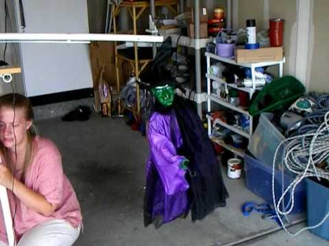 flying witch prop getting started youtube using monstergutscom wiper halloween witcheshalloween prophalloween craftshalloween - Youtube Halloween Crafts