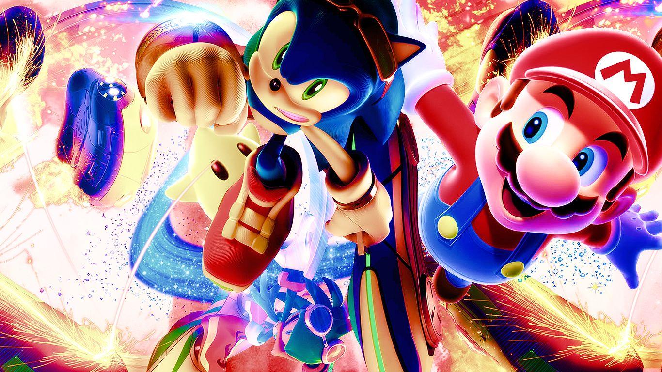 Mario and Sonic Wallpaper (con imágenes) Arte