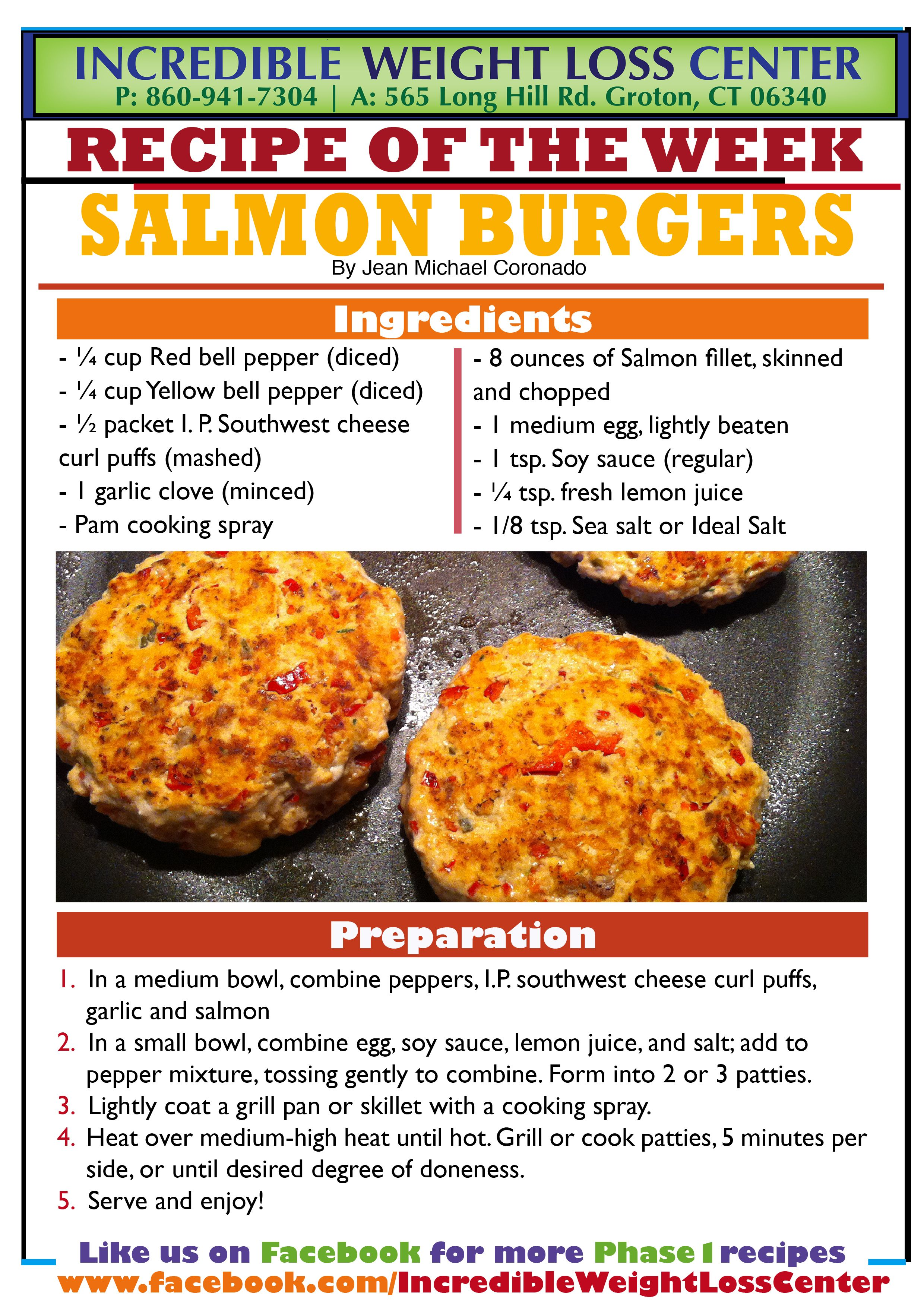 Ideal Protein Salmon Burgers! These delicious and filling ...