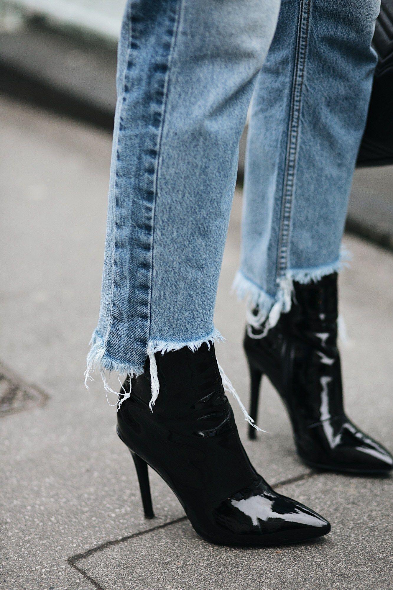 e9a35504ea7e6 black vinyl plc ankle boots