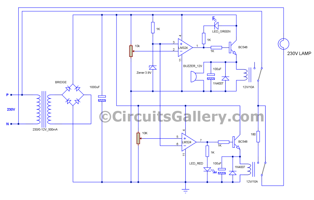 automatic voltage stabilizer circuit diagram circuito wiring diagram for security camera  class b fire alarm wiring diagram