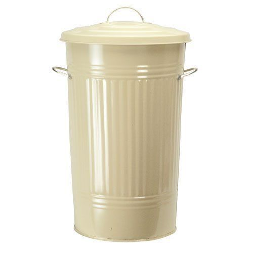 Retro Kitchen Bin In Cream By Garden Trading Country Style