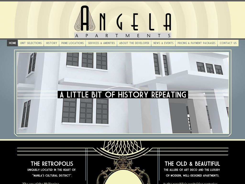 art deco web design google search - Apartment Website Design