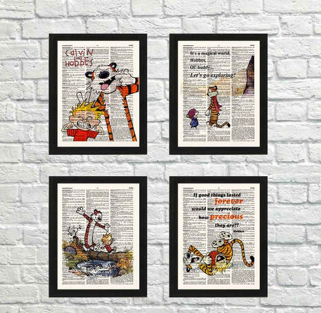 Calvin and Hobbes Set of Four Prints, $22.21