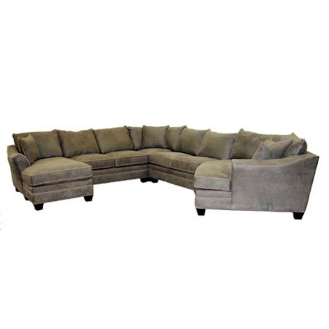 Suede Pine Five Piece Cuddler Sectional From B Jus