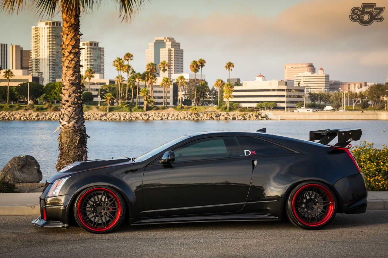 wagon sitting yellow v bespoke vossen bronze cadillac with muscular rims gallery custom cts brake on calipers fitted