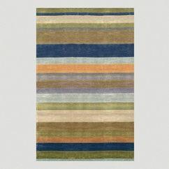 Striped Tufted Rug, Ocean at Deciture.com