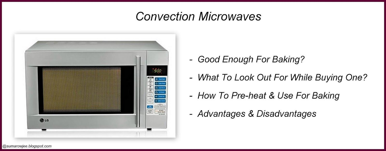 Microwave Convection Oven Cooking