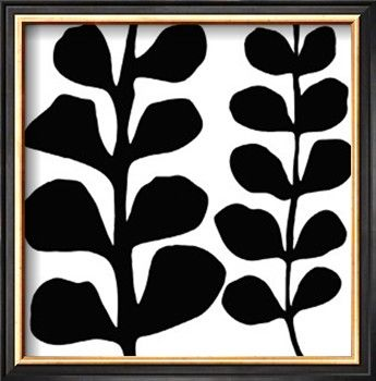 Maidenhair black on white giclee print by denise duplock at art com
