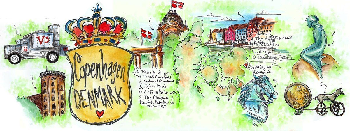 THEY DRAW AND TRAVEL Maps illustrated by artists from around the - new world map denmark copenhagen