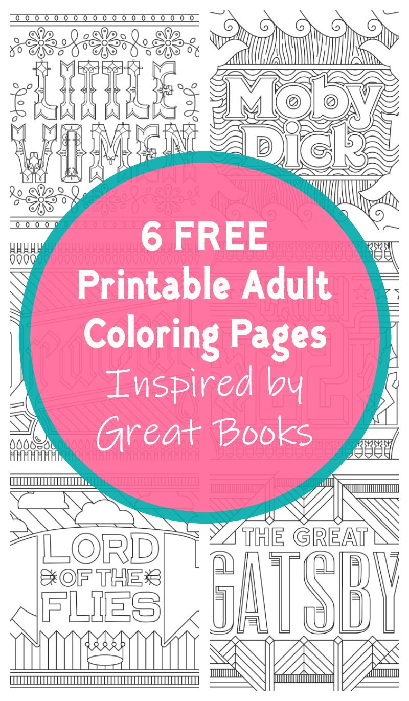Grab 6 FREE Printable Adult Coloring Pages Inspired by Your Favorite ...