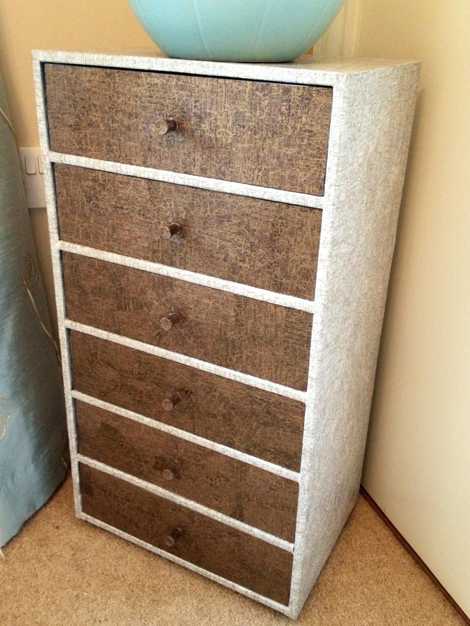 Decopatch Chest Of Drawers   What A Great Way To Recycle Old Furniture!  Beautiful.