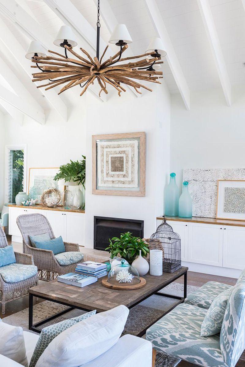Neue wohnzimmer innenarchitektur pin von white and vintage auf beachhousedeko einrichten