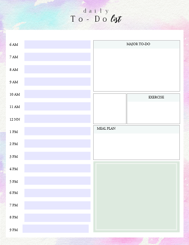 Printable Daily To Do List Template Get Things Done Ec Hp