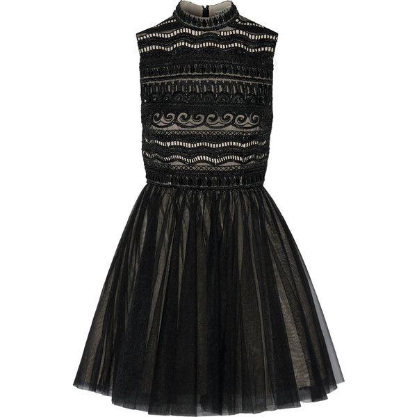 Black Short Tulle Dress