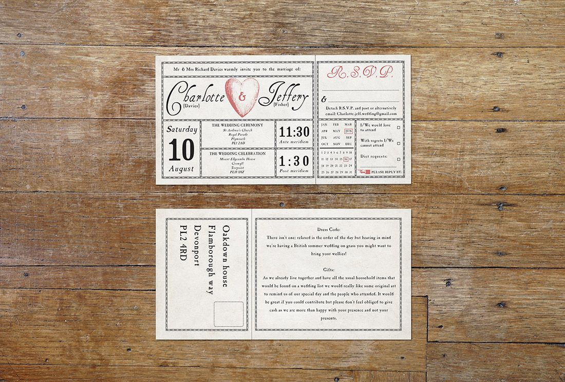 nautical wedding invitations uk%0A Antique ticket wedding invitation  An old ticket style invitation  beautifully constructed adapting ornate borders and