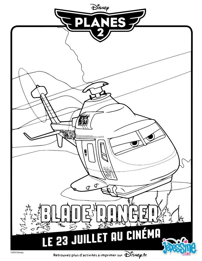 Un joli coloriage sur Plane 12 avec BladeRanger. Un dessin parfait