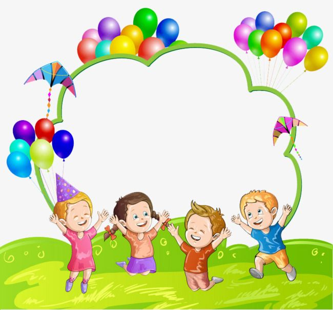 Kids And Balloons Children Balloon Decoration Png Transparent