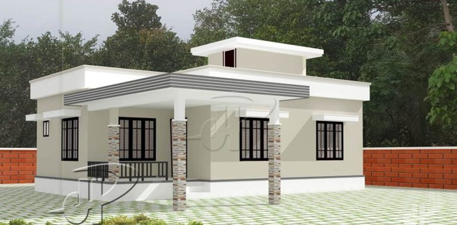 This House Plan Is Designed To Be Built In 84 Square Meters