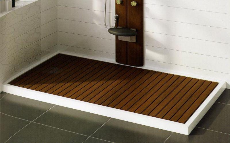 Tarima de madera para plato de ducha una ducha muy c lida ba o pinterest duchas platos - Tarimas de bano ...