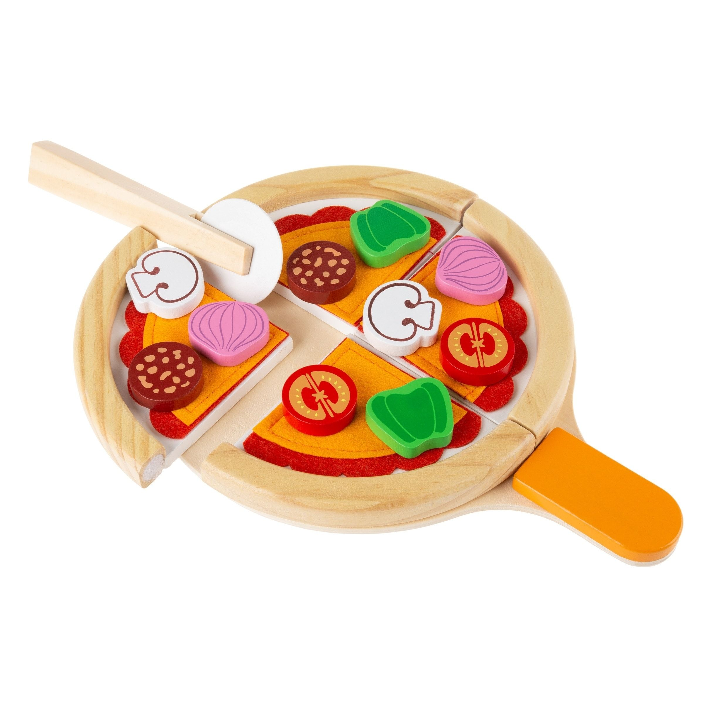 Pretend Play Pizza Set-Wooden Toy Food By Hey! Play