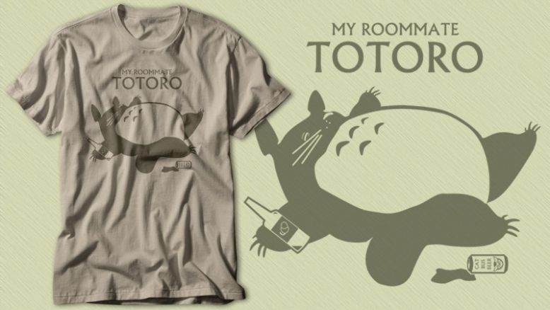 My Room Mate Totoro by the50ftsnail