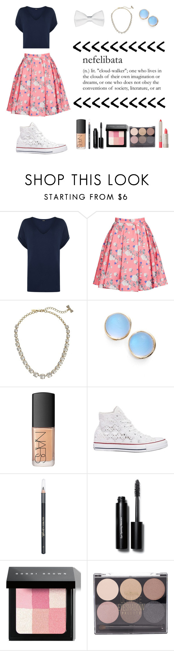 """Nefelibata"" by alexis-517 ❤ liked on Polyvore featuring WearAll, ERIN Erin Fetherston, Kate Spade, Alexis Bittar, NARS Cosmetics, Converse, Barry M, Bobbi Brown Cosmetics, Forever 21 and Ilia"