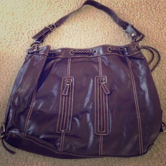 Cute brown bag Cute brown shoulder bag. Fits notebooks, iPads, etc. Bags