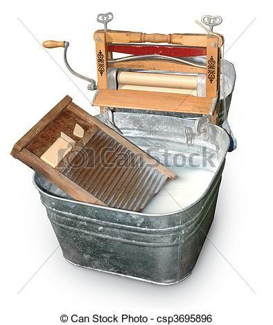 Antique Wash Tub Stock Image Of Wash Tub Ringer Antique Wash