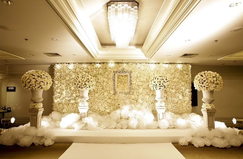 Image result for white wedding stage