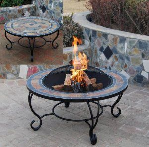 Get Java Table Firepit   Large Fire Bowl Garden Heater Outdoor Dining Bbq Fire  Pit At Garden Incinerators U0026 Fire Pits