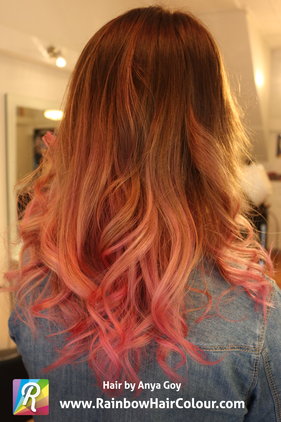 how to get pastel pink hair from red