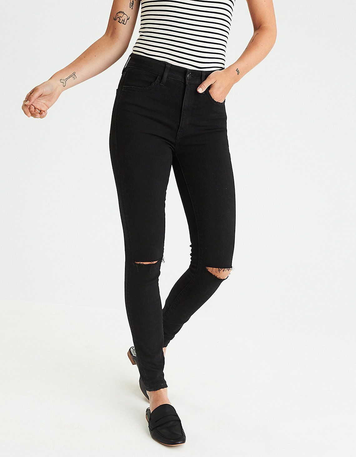 3b8cb39d26f90 AE Super High Rise Jean Legging LONG (black) 8 and try 10 ...