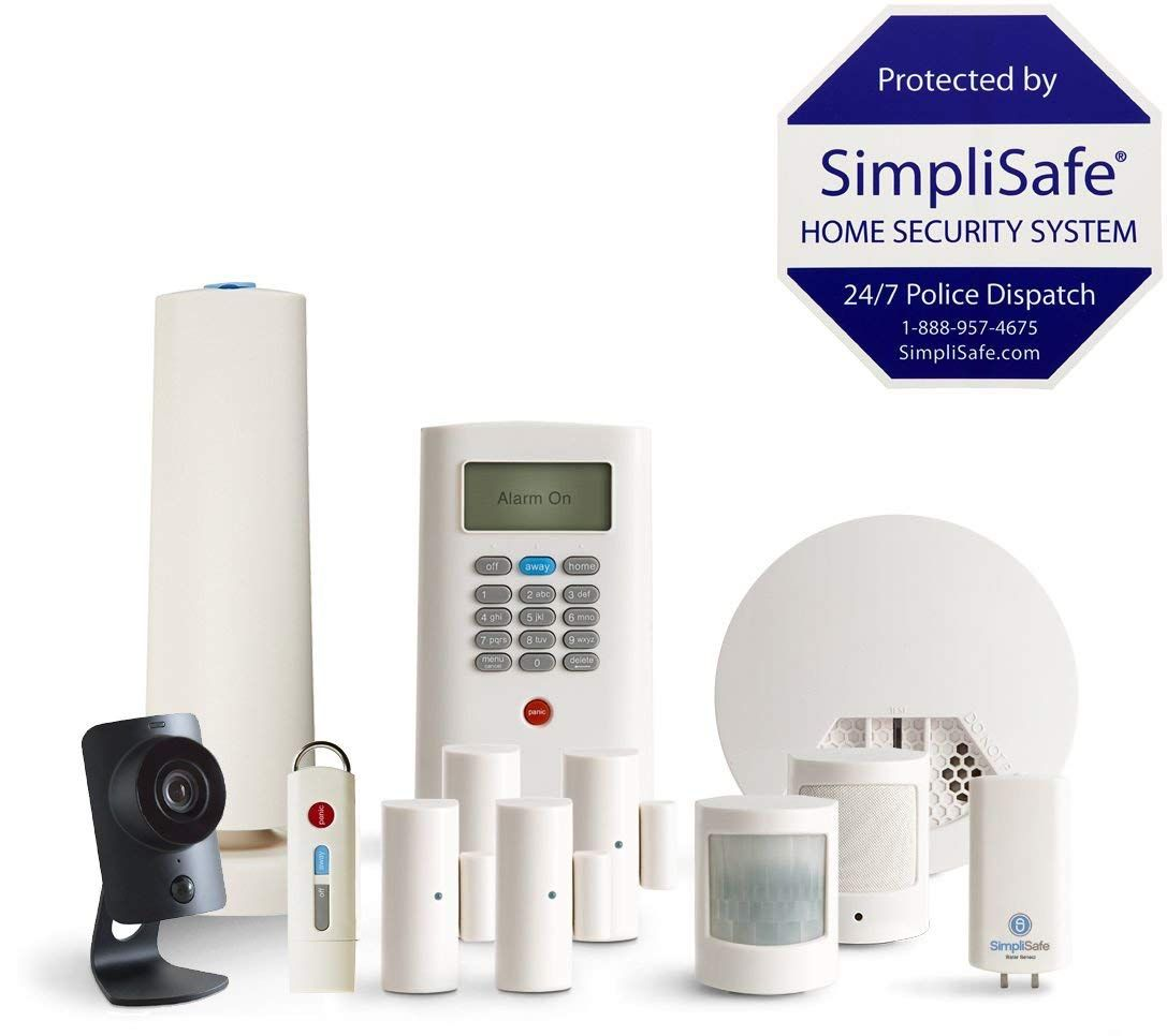SimpliSafe 12-Piece Home Security System with HD Camera /& Smoke Detector NEW!