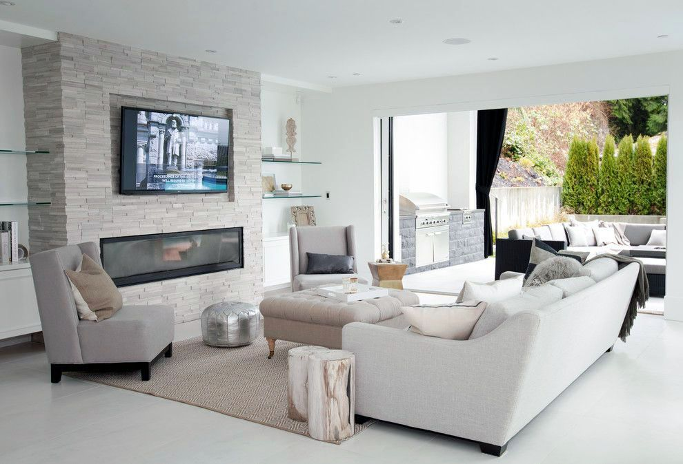 Discover Living Room Tv Show Recipes To Refresh Your Home Living Room With Fireplace Family Room Design Linear Fireplace