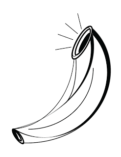 Free Ram's Horn shofar clip art to add to your printables