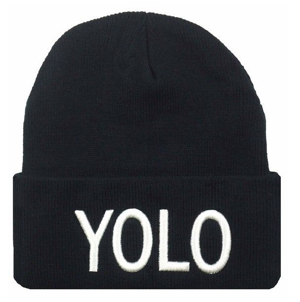 3978ee3f61b76 Fall and Winter Men and Women s YOLO Embroidery Knitted Wool Warm Elastic  Beanies Hat Hip-