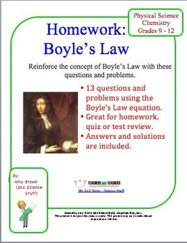 Gas Laws Boyle S Law Practice With Images Science Homework